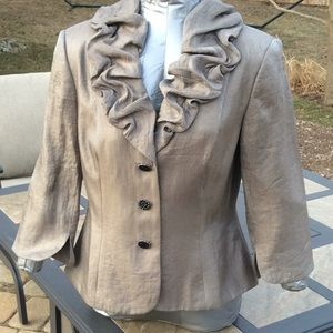 Pretty Ruffle Suit Jacket by Adrianna Papell 10